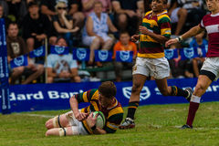 Forward Score Try Ball Rugby Paarl Gymn Stock Photo