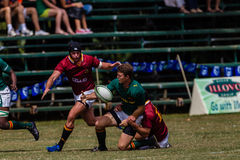 Players Ball Tackle Rugby Glenwood Royalty Free Stock Image