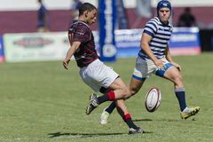 Rugby Action 1st Teams High Schools. Dale SACS High school 1st teams rugby action Kearsney College Rugby festival Botha Hill Durban South Africa Stock Images