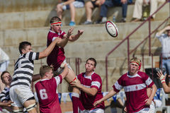 Rugby Action 1st Teams High Schools. Selborne High school 1st teams rugby action Kearsney College Rugby festival Botha Hill Durban South Africa Stock Photo