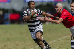 Rugby Action 1st Teams High Schools. Selborne versus HTS Middleburg High school 1st teams rugby action Kearsney College Rugby festival Botha Hill Durban South Royalty Free Stock Image