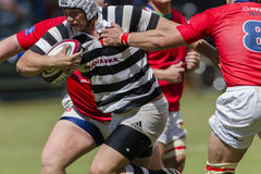 Rugby Action 1st Teams High Schools. Selborne versus HTS Middleburg High school 1st teams rugby action Kearsney College Rugby festival Botha Hill Durban South Stock Image