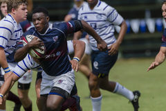Rugby Action 1st Teams High Schools. Westville Menlopark High school 1st teams rugby action Kearsney College Rugby festival Botha Hill Durban South Africa Stock Images