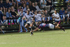 Rugby Action 1st Teams High Schools. Westville versus SACS 1st teams rugby action Kearsney College Rugby festival Botha Hill Durban South Africa Stock Photography
