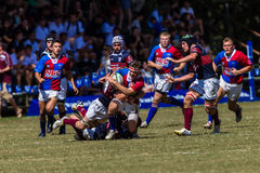 Players Ball Action Rugby  Royalty Free Stock Photography