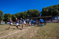 Players Rugby Westville. Rugby action  Westville Boys High School and Framesby High school Royalty Free Stock Photography