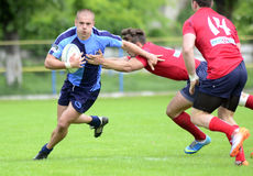 Rugby akcja Zdjęcia Royalty Free