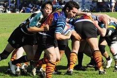 Rugby akcja Zdjęcia Stock