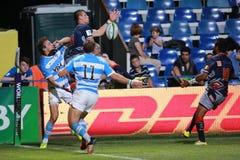 Rugby akcja Zdjęcie Stock