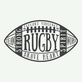 Rugby or american football ball with typography Stock Photos