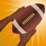 Rugby American football catch Royalty Free Stock Photography