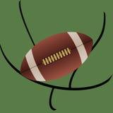 Rugby Amerikaanse voetbal en abstracte doelachtergrond Stock Foto's