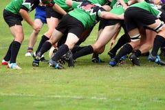 Rugby-Anschluss-Gedränge Stockfoto