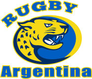 Rugby Argentina Jaguar Leopard Royalty Free Stock Photos
