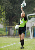 RUGBY ASSITANT REFEREE Royalty Free Stock Photo