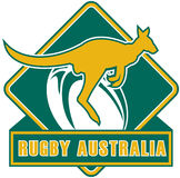Rugby Australia kangaroo Royalty Free Stock Photos