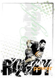 Rugby background1 royalty free illustration