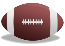 Rugby ball. Illustration of a rugby (football) ball in white background (isolated Royalty Free Stock Photography