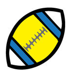 Rugby ball. Illustration. This illustration is editable Royalty Free Stock Image