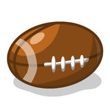 Rugby ball or American football isolated illustrat. Ion on white background Royalty Free Stock Images