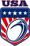 Rugby ball american usa Stock Photos