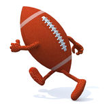 Rugby ball with arms and legs running Royalty Free Stock Images