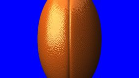 Rugby ball on blue chroma key stock illustration