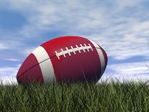 Rugby ball - 3D render Stock Images