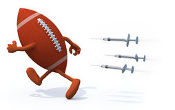 Rugby ball doping concepts Stock Images
