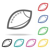 Rugby ball. Element of sport multi colored icon for mobile concept and web apps. Icon for website design and development, app deve vector illustration