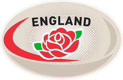 Rugby Ball England English Rose Stock Images