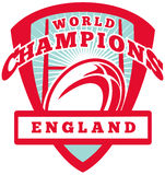 Rugby ball England World Champions Royalty Free Stock Photos