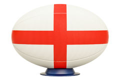 Rugby Ball with flag of England, 3D rendering. Isolated on white background Royalty Free Stock Image