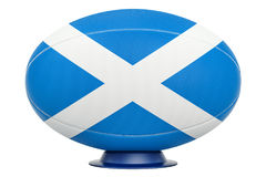 Rugby Ball with flag of Scotland, 3D rendering Stock Photo