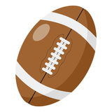 Rugby Ball Flat Icon Isolated on White Royalty Free Stock Images