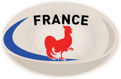 Rugby Ball France French Rooster cockerel Royalty Free Stock Photography