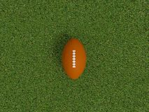 Rugby ball on a grass Stock Images