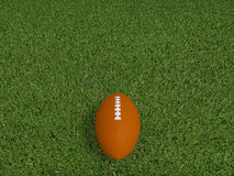 Rugby ball on a grass Stock Photos