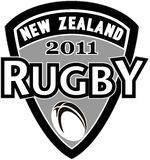 Rugby ball new zealand 2011 Royalty Free Stock Photo