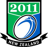Rugby ball new zealand 2011 Royalty Free Stock Image