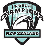 Rugby ball New Zealand World Champions Royalty Free Stock Photography