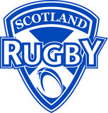 Rugby ball shield scotland Stock Photos