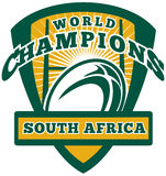 Rugby ball South Africa World Champions Royalty Free Stock Photography