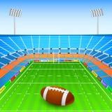Rugby Ball on Stadium stock illustration