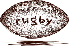 Rugby Ball. Vector image of a Rugby Ball Stock Photo