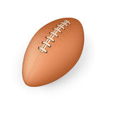 Rugby ball on a white background Stock Photos