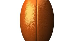 Rugby ball on white background stock illustration