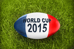 Rugby ball world cup 2015. Blue white red Rugby ball world cup 2015 Stock Photography