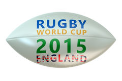 Rugby Ball with World Cup England concept Royalty Free Stock Photography