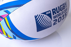 Rugby ball world cup for 2015 motion blur Royalty Free Stock Photo